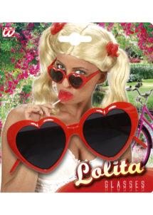 lunettes coeurs rouges, lunettes coeurs, lunettes déguisements, Lunettes Coeurs Rouges, Lolita