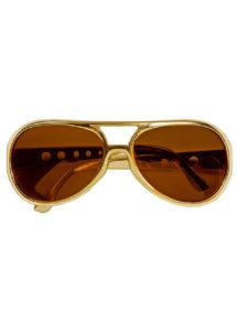 lunettes elvis, lunettes rock, lunettes années 60, lunettes dorées, Lunettes Elvis