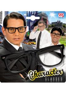 lunettes rayban, lunettes déguisements, lunettes montures noires, Lunettes Character, Verres Transparents