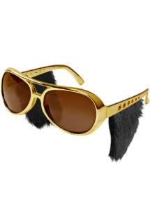 lunettes elvis, lunettes rock, lunettes années 60, lunettes dorées, Lunettes Elvis avec Pattes