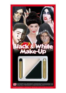 maquillage noir et blanc, maquillage enfant Halloween, Palette de Maquillage Noir et Blanc