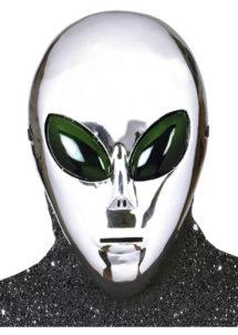 masque alien, masque de déguisement, accessoire déguisement masque, accessoire masque déguisement, masque déguisement d'alien, masque halloween déguisement, Masque Alien Argent