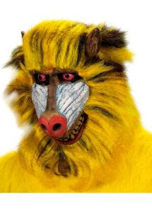 masque de babouin, masque de singe, masque d'animal, masques d'animaux, déguisement de singe, Masque de Babouin, Latex