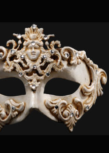masque vénitien, loup vénitien, masque carnaval de venise, véritable masque vénitien, accessoire carnaval de venise, déguisement carnaval de venise, loup vénitien fait main, Vénitien, Barocco Dama, Blanc
