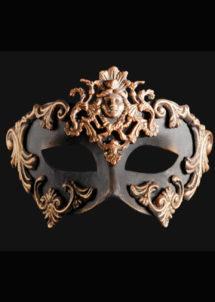 masque vénitien, loup vénitien, masque carnaval de venise, véritable masque vénitien, accessoire carnaval de venise, déguisement carnaval de venise, loup vénitien fait main, Vénitien, Barocco Dama, Noir