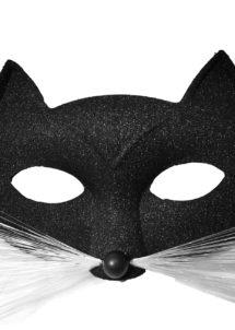 masque de chat, masque chat vénitien, loup chat noir, masque chat noir, Loup Chat Pantera Glitter, Noir
