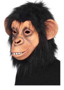masque de singe, masque de chimpanzé, masque singe en latex, masque chimpanzé latex, masque animal latex, Masque de Chimpanzé, Latex