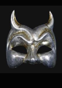 masque halloween, masque de diable, masque haute qualité, masque Venise, Vénitien, Diavolo, Silver