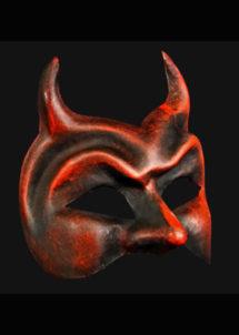 masque halloween, masque de diable, masque haute qualité, masque Venise, Vénitien, Diavolo, Rouge