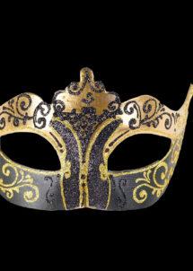 masque vénitien, loup vénitien, masque carnaval de venise, masque vénitien fait à la main, Vénitien, Stella, Noir et Or