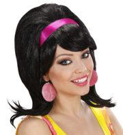perruque pour femme, perruque brune, perruque noire, acheter perruque femme à paris, perruque de déguisement, perruque pas cher, perruque années 50, perruque années 60 Perruque Années 60, Mod, Noire