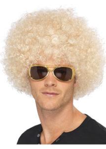 perruque disco, perruque afro blonde, perruque disco homme, Perruque Afro Funky, Blonde