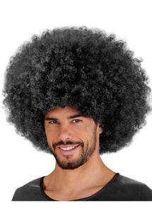 perruque disco, perruque afro noire, perruque disco homme, Perruque Afro Jimmy, Noire