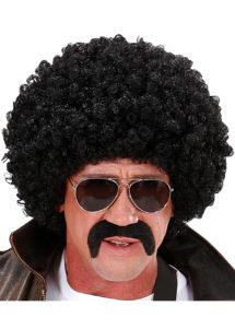 perruque disco, perruque afro noire, perruque disco homme, Perruque Afro, Disco, Agent Secret, Noire