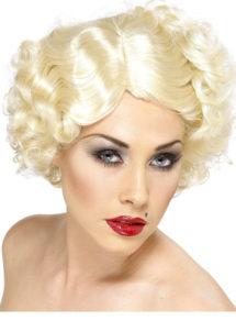 perruque années 30, perruque cabaret, perruque années 20, perruque femme, perruque blonde femme, Perruque Flapper, Blonde