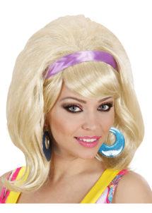 perruque années 60 blondes, perruque blonde femme, perruque années 60, Perruque Années 60, Mod, Blonde