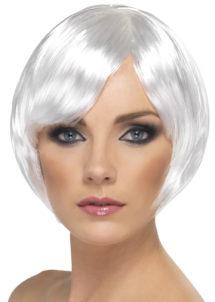 perruque blanche, perruque femme blanche, perruque femme courte, Perruque Babe, Blanche