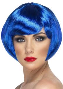 perruque bleue, perruque femme bleue, perruque femme courte, Perruque Babe, Bleue