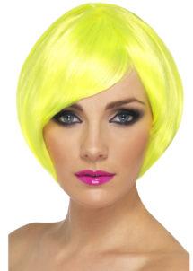 perruque jaune, perruque femme jaune, perruque femme courte, Perruque Babe, Jaune