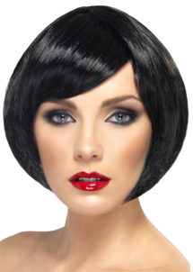 perruque noire, perruque femme noire, perruque femme courte, Perruque Babe, Noire