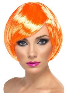 perruque orange, perruque femme orange, perruque femme courte, Perruque Babe, Orange