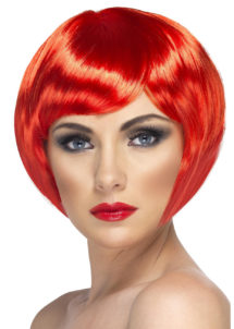 perruque rouge, perruque femme rouge, perruque femme courte, Perruque Babe, Rouge