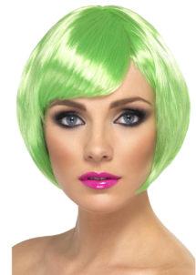 perruque verte, perruque femme verte, perruque femme courte, Perruque Babe, Verte