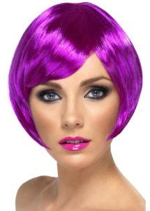 perruque violette, perruque femme violette, perruque femme courte, Perruque Babe, Violette