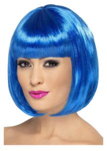 perruque bleue femme, perruque carré bleu femme, perruque femmes, perruque paris, Perruque Partyrama, Bleue