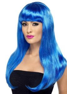 perruque bleue femme, perruque pour femme, perruque cheveux bleus, Perruque Babelicious, Bleue