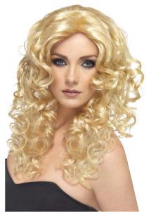 perruque blonde femme, perruque frisée femme, perruque bouclée femme, perruque cheveux longs frisés, Perruque Glamour, Blonde