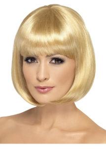 perruque blonde, perruque carré blond femme, perruque femme blonde, Perruque Partyrama, Blonde