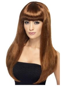 perruque châtain pour femme, perruque cheveux longs pour femme, perruque châtain, Perruque Babelicious, Châtain