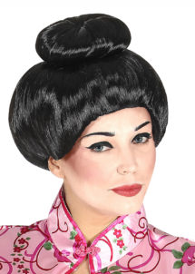 perruque geisha, perruque femme, perruque asiatique, Perruque de Geisha, Noire