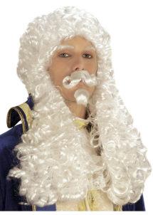 perruque homme, perruque blanche, perruque de juge, perruque de marquis, perruque de roi, perruque louis XIV, perruque versailles, Perruque de Juge, Marquis François, Blanche