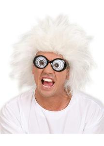 perruque homme, perruque blanche, perruque de savant, perruque de fou, perruque lunatic, Perruque Lunatic, Blanche