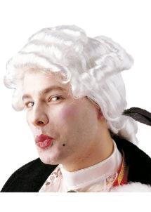 perruque homme, perruque de marquis, perruque versailles, perruque catogan, perruque louis XIV, perruque de noble, Perruque de Marquis Casanova, Blanche