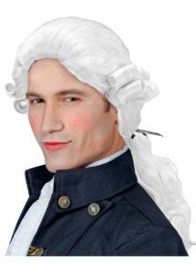 perruque homme, perruque de marquis, perruque versailles, perruque catogan, perruque louis XIV, perruque de noble, Perruque de Marquis Comte Alfonso, Blanche