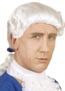 perruque homme, perruque de marquis, perruque versailles, perruque catogan, perruque louis XIV, perruque de noble, Perruque de Marquis Colonial, Blanche