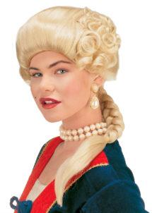 perruque de marquise, perruque femme, perruque historique, perruque de duchesse, perruque historique, Perruque de Marquise, Joséphine, Blonde