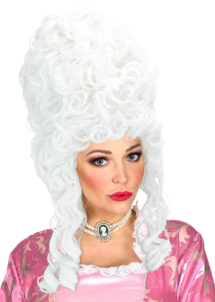 perruque de marquise, perruque femme, perruque historique, perruque de comtesse, Perruque de Marquise, Marie Antoinette, Blanche