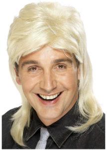perruque disco homme, perruque homme disco, perruque blonde homme, Perruque Années 80, Jason Mulet, Blonde