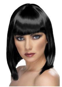 perruque noire femme, perruque carré noir, perruque cheveux noirs, perruque carré noir femme, perruques paris, Perruque Glam, Noire