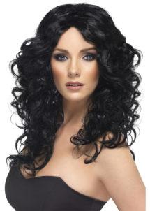 perruque noire, perruque cheveux longs, perruque glamour, perruque pas chère à paris, perruques femmes, perruques cheveux longs bouclés, Perruque Glamour, Noire