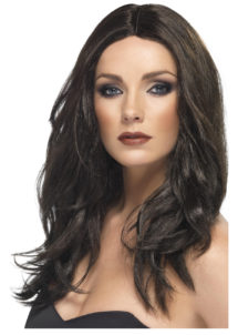 perruque noire, perruque cheveux longs, perruque glamour, perruques femmes, perruques cheveux longs, Perruque Superstar, Noire