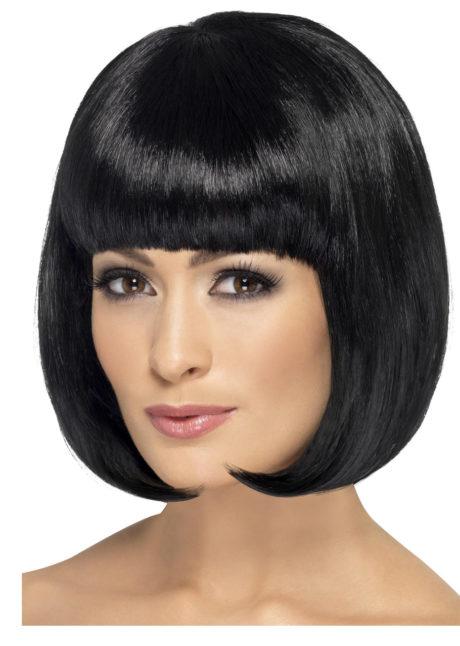 perruque noire, perruque cheveux longs, perruque glamour, perruque pas chère à paris, perruques femmes, perruque carré noir, Perruque Partyrama, Noire