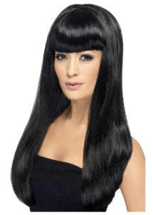 perruque noire femme, perruque longue noire, perruque cheveux longs noirs, perruques noires, Perruque Babelicious, Noire