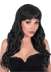 perruque noire, perruque lavable, perruque stylisable, perruque noire femme, Perruque Bella, Noire, Lavable et Stylisable
