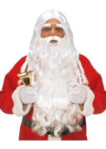 perruque homme, perruque blanche, perruque de père noël, barbe de père Noël, perruque et barbe de père noël, Perruque et Barbe Longue de Père Noël, Blanche