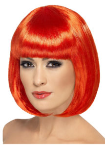 perruque femme, perruque rouge femme, perruque carré rouge femme, perruque cheveux rouges, Perruque Partyrama, Rouge